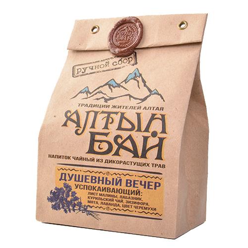Чайный напиток Душевный вечер успокаивающий 100г Алтын Бай Алтай
