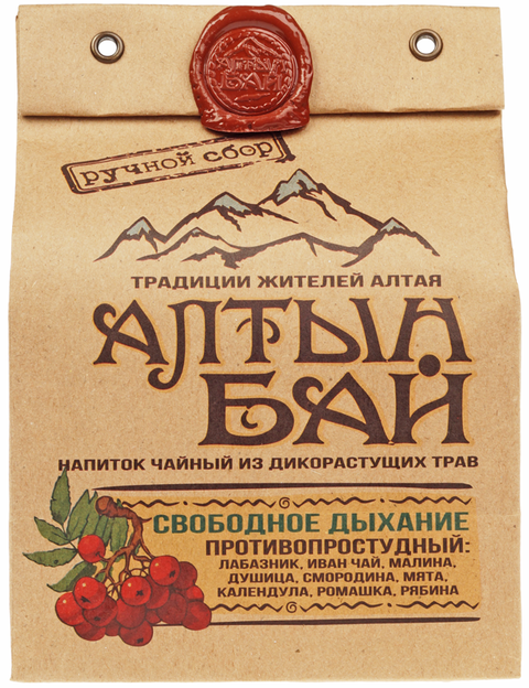 Чай травяной Свободное дыхание противопростудный 100г Алтын Бай Алтай