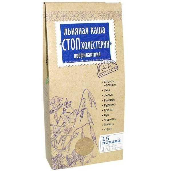 Каша Стоп Холестерин льняная заварная 400г