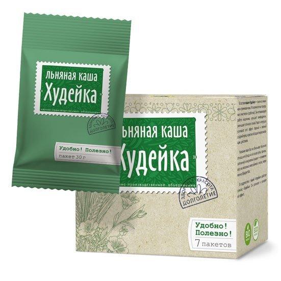 Каша Худейка порционная льняная заварная 30г*7шт
