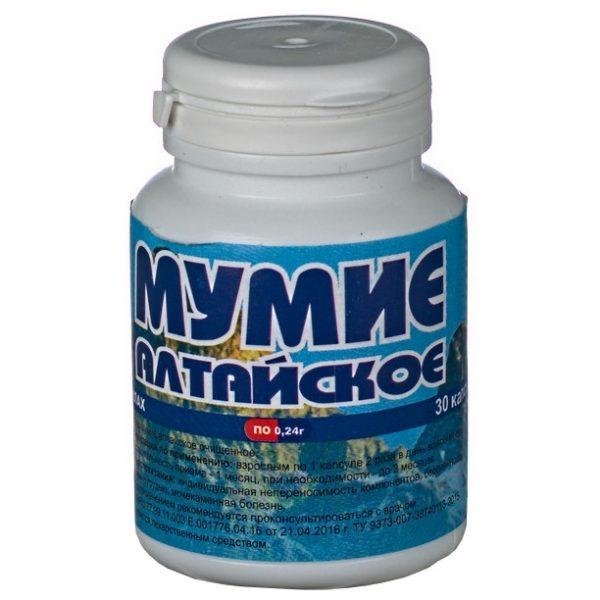 Мумие Брагшун Алтайское капсулы 0,24 гр.
