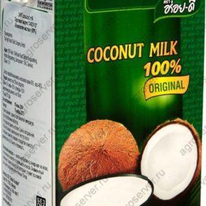 Кокосовое молоко натуральное без добавок жирность 17-19% 1л