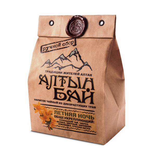 Чай травяной Летняя ночь общеукрепляющий 100г Алтын Бай Алтай