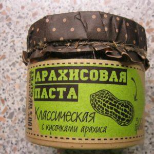 Арахисовая паста с кусочками арахиса 300г