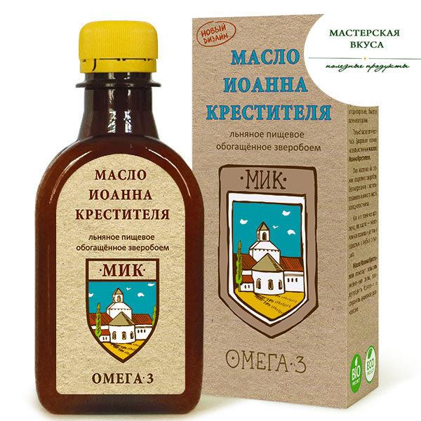 Масло Иоанна Крестителя (настой зверобоя на льняном масле) 0,2л Сибирь