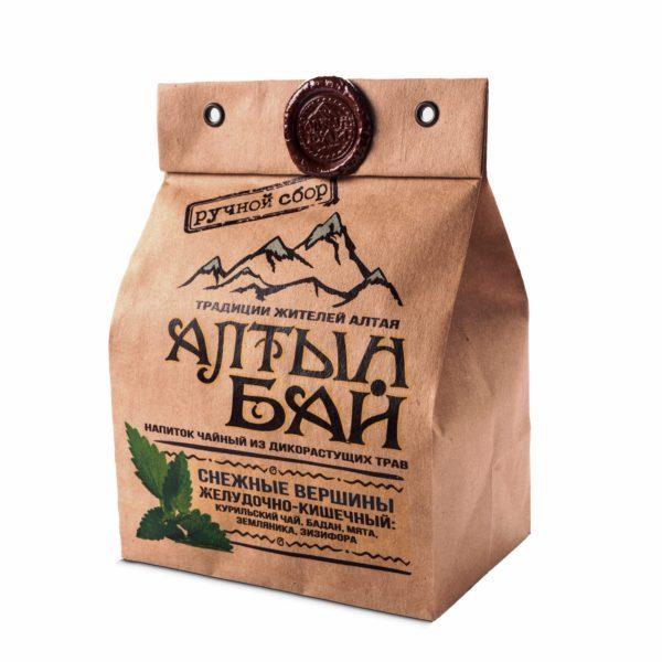 Чайн травяной Снежные вершины желудочно-кишечный 100г Алтын Бай