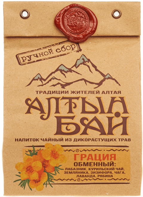 Чай травяной Грация для похудения 100г Алтын Бай Алтай