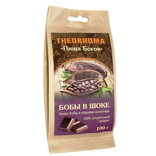 Какао бобы в горьком шоколаде 100г