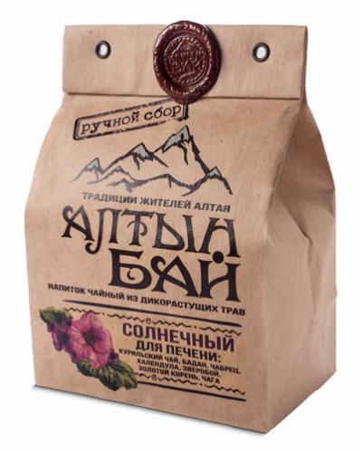 Чай травяной Солнечный для печени 100г Алтын Бай Алтай
