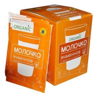 Молочко ячменное с ванилью и корицей 20 пакетиков по 10г