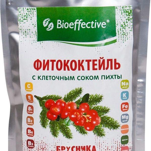 Фитококтейль Брусничный с клеточным соком пихты 220мл