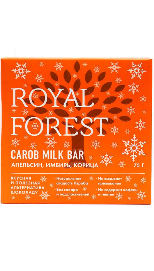Шоколад на кэробе без сахара и глютена апельсин, имбирь, корица 75г