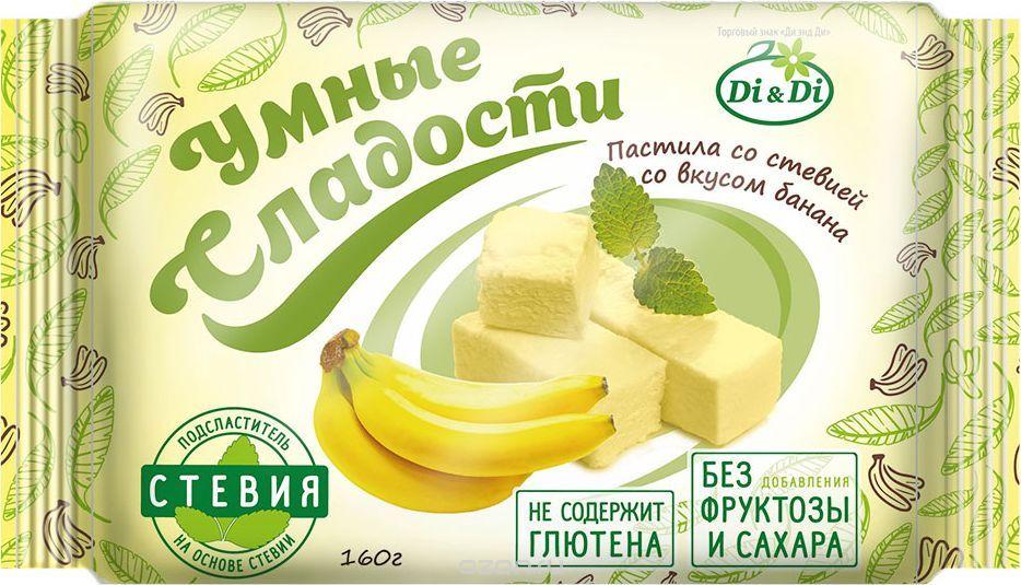 Пастила без сахара на стевии со вкусом банана без глютена 160г