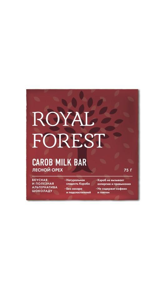 Шоколад на кэробе без сахара и глютена лесной орех 75г