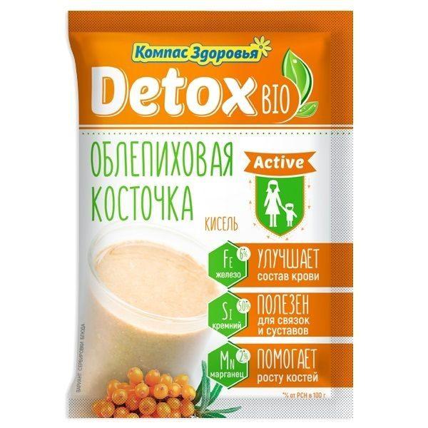 Кисель detox bio Active Облепиховая косточка 250г 25г*10 пакетов