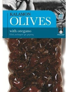Оливки Каламата с орегано OLIVES 150г Греция