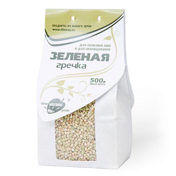 Зелёная гречка зерно для проращивания 500г Образ Жизни