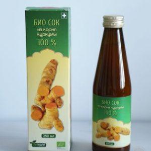 био сок корня куркумы
