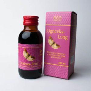 Комплекс натуральных продуктов пчеловодства и экстрактов трав Огневка LONG (с экстрактами трав для печени) 100мл