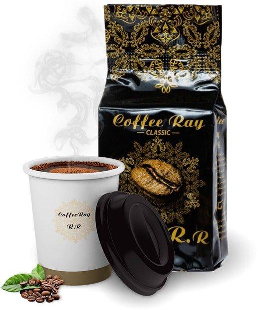Кофе арабика молотый темной обжарки для турки Ray R.R. 200г Ливан