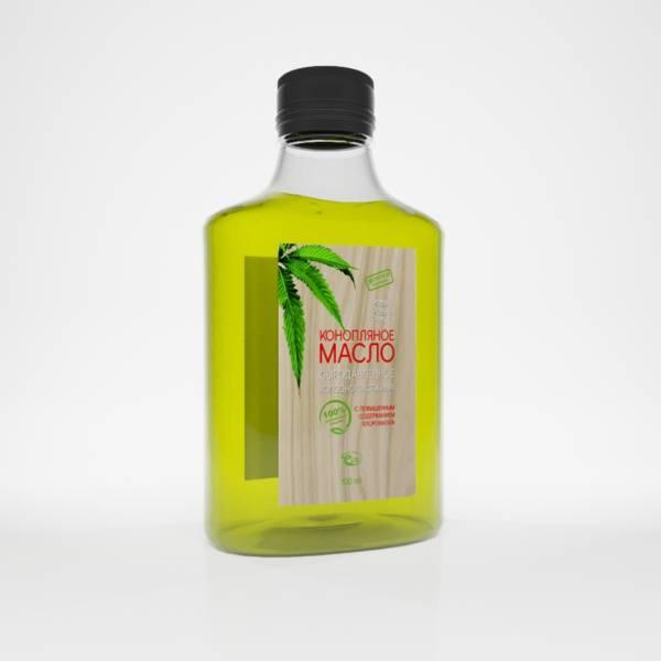 конопляное масло сыродавленное холодного отжима 100мл