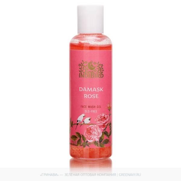 Гель для умывания лица Дамасская роза Без сульфатов 100мл Индия
