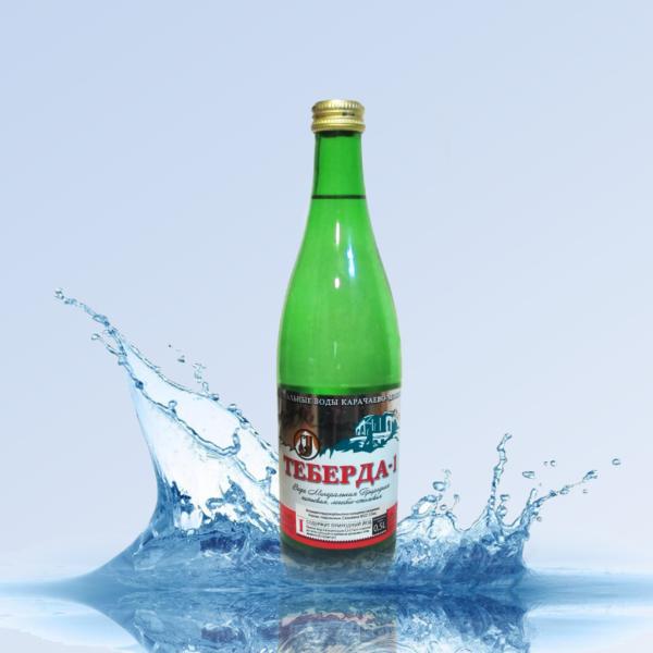 Вода минеральная лечебно-столовая Теберда 0,5л стекло