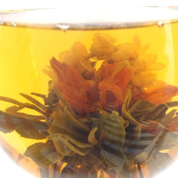 связанный чай цветок молодости при заваривании