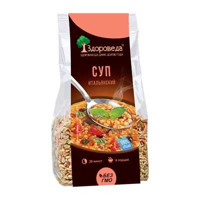 Суп итальянский с красной чечевицей и макаронами Здороведа 250г