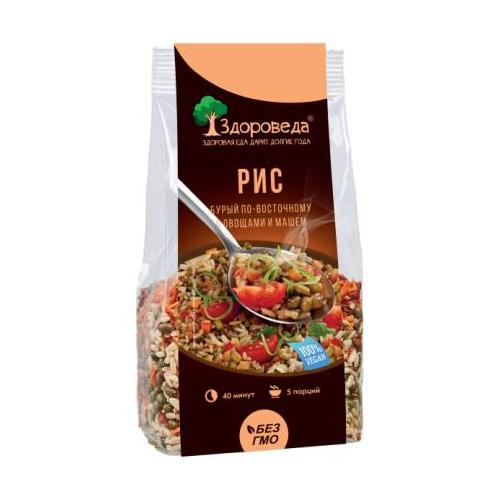 Рис бурый с машем и овощами по-восточному Здороведа 250 г
