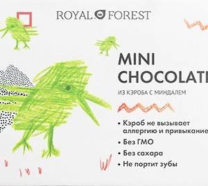 Шоколад на кэробе без сахара с миндалем 30г