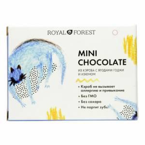 Шоколад на кэробе без сахара с ягодами годжи и изюмом 30г