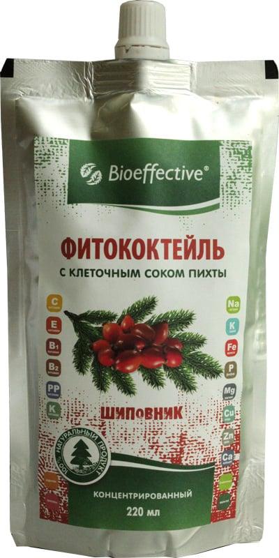 Фитококтейль Шиповниковый с клеточным соком пихты 220мл