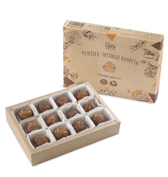конфеты без сахара абрикос-шоколад 300г