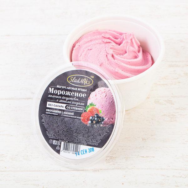 мороженое без сахара на стевии Лесные ягоды
