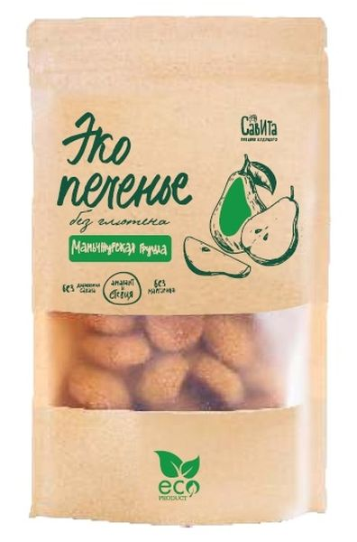Печенье кукурузное Маньчжурская груша без глютена, сахара и маргарина 280г Савита