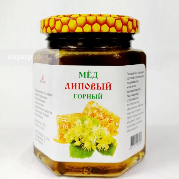 Мёд ЛИПОВЫЙ горный 265г