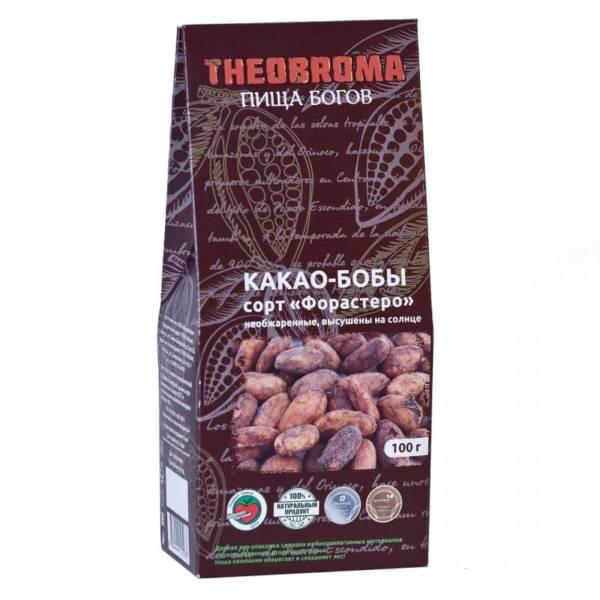 Какао бобы высушенные на солнце сорт Форастеро 100г