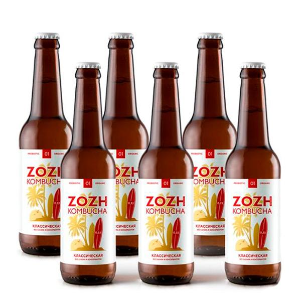 комбуча ZOZH классическая без сахара 0,33мл