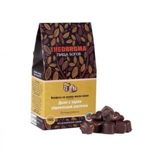 конфеты шоколадные Дыня с ядром абрикосовой косточки