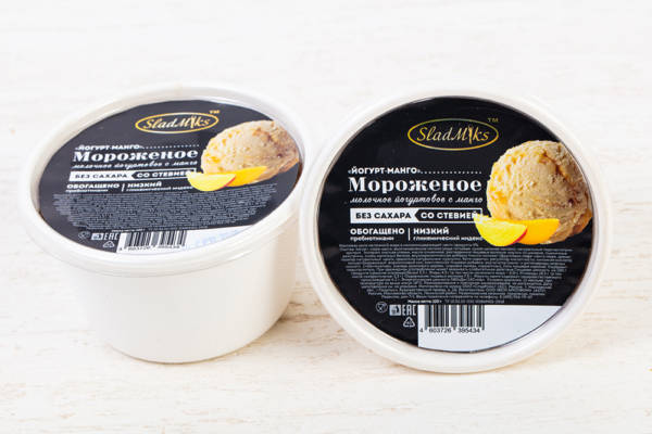мороженое без сахара на стевии йогурт-манго