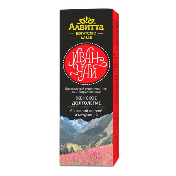 Биоактивный сироп из ферментированного листа иван-чая с красной щеткой и медуницей Женское долголетие