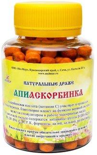Драже из пыльцы и витамина С АПИАСКОРБИНКА 100г в стаканчике