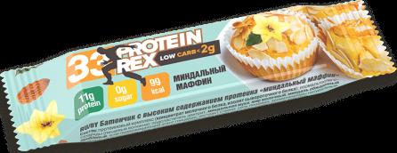 Батончик протеиновый ProteinRex Low Carb 33% Миндальный маффин 35г