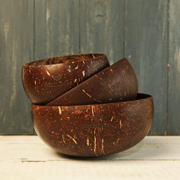кокосовая чаша полированная