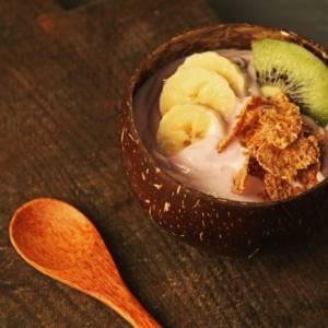 кокосовая чаша полированная средняя Вьетнам