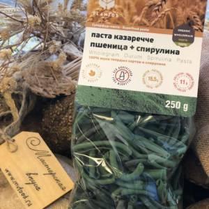 паста казаречче пшеница и спирулина PLANTOS