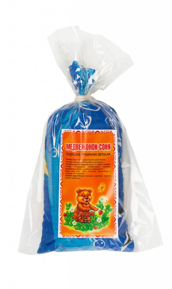 подушка травяная детская Медвежонок Соня Крым