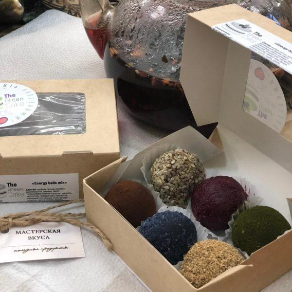 конфеты energy balls с голубой матчей без сахара без глютена купить дешево в Мастерская вкуса