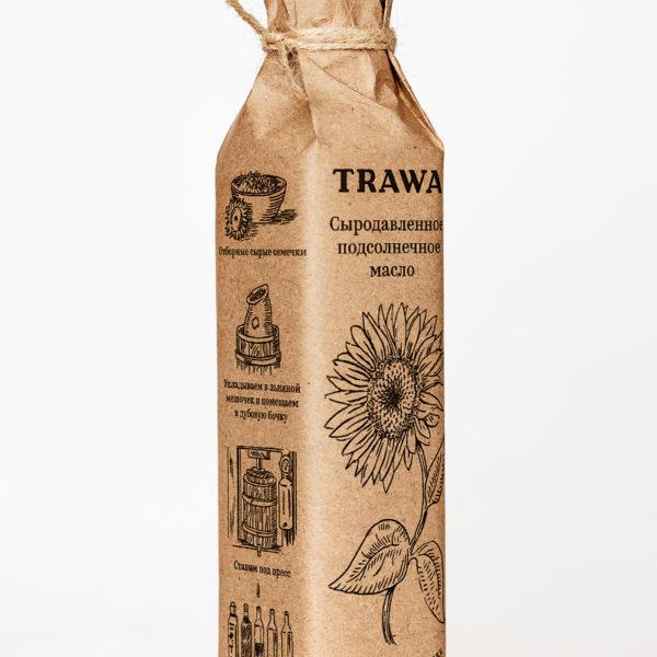 подсолнечное масло сыродавленное trawa